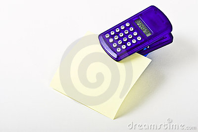 Calculator with Blank Note Paper