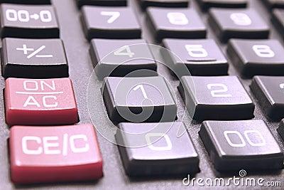 Calculator buttonsc loseup