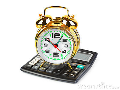 Calculator and clock