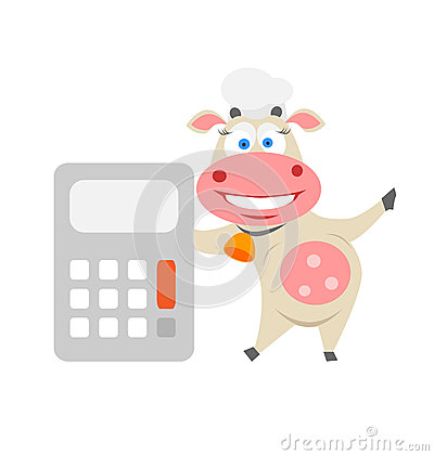Calculator cow
