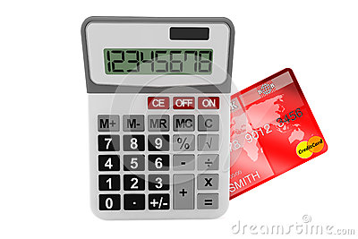 Calculator with Credit Card