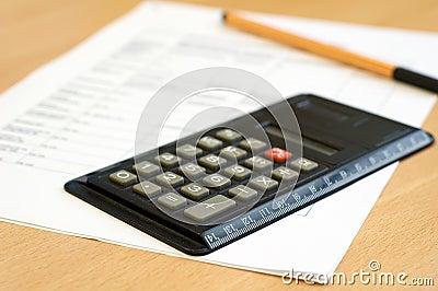 Calculator en blad