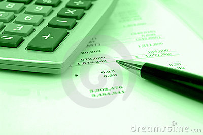 Calculator on financial statement