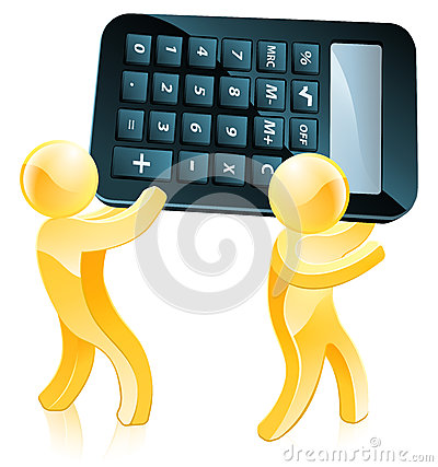 Cartoon Calculator Man Stock Photography Image 33479522