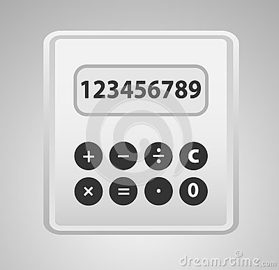 Calculator grey.