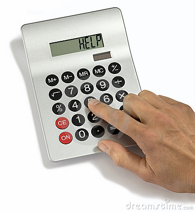 Free Calculator Help Stock Image - 5701011