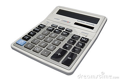 Calculator isolated with clipping path.