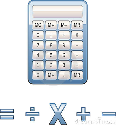 Calculator math symbols