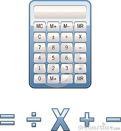 Free Calculator Math Symbols Stock Image - 1234941