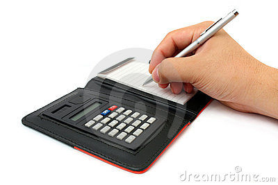 Calculator Memo Pad Stock Photos - Image: 8453363