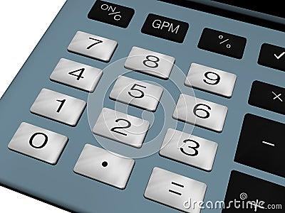 Calculator number pad