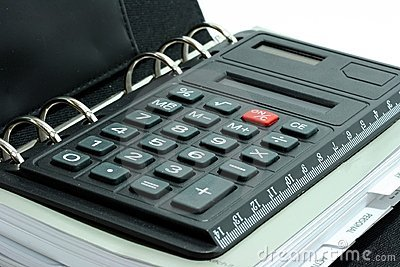 Calculator in organiser