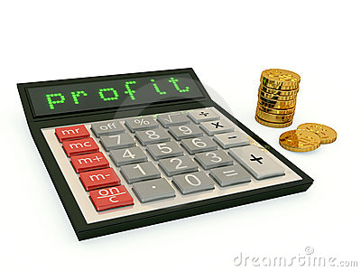 Calculator with  profit text