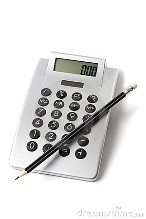 Calculator and sharp pencil