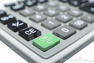 Calculatormacro isolated on white. Clipping Path.