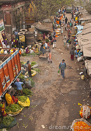 Calcutta Flower Market Editorial Image