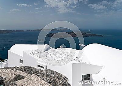 Caldera view in Santorini