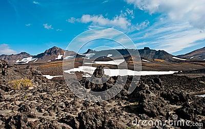 Caldera of the volcano
