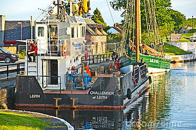 Caledonian Canal at Inverness. Editorial Stock Image