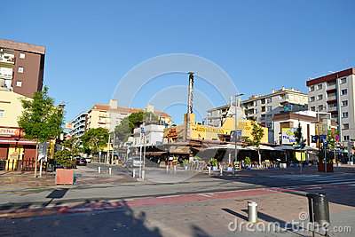 Calella, Costa-Brava beach. Editorial Image