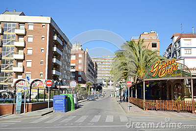 Calella, Costa-Brava beach. Editorial Stock Image