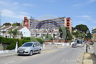 Calella, Costa-Brava beach. Editorial Photography