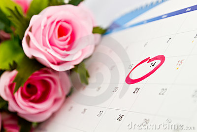 Calendar 14th the Valentine s day