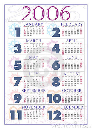 Free Calendar 2006 Stock Photography - 284782