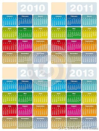 2012 calendar printable. CALENDAR FOR 2010, 2011, 2012