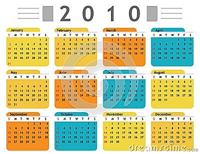Calendar 2010 english