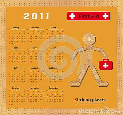 Calendar 2011 Sticking plaster Figure