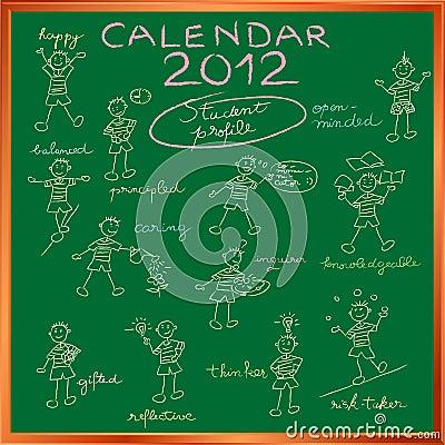 Calendar 2012 student profile cover