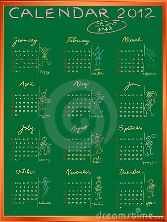 Calendar 2012 with student profile full