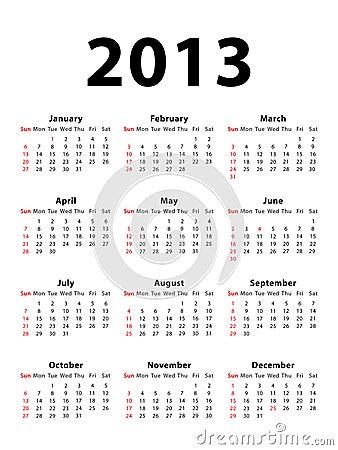 Calendar 2013 portrait
