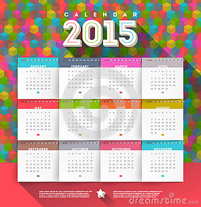 Free Calendar 2015 Stock Photography - 43893812
