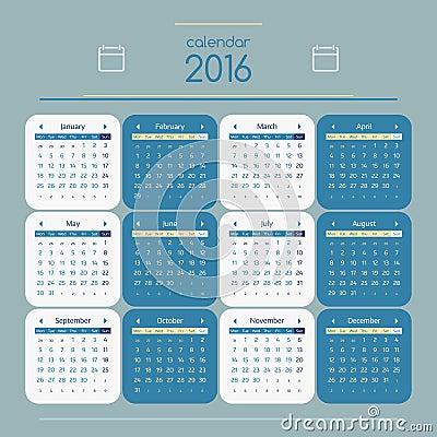 Free Calendar 2016 Stock Photos - 59560143