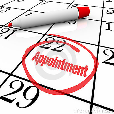 Free Calendar - Appointment Day Circled For Reminder Royalty Free Stock Photo - 19147605