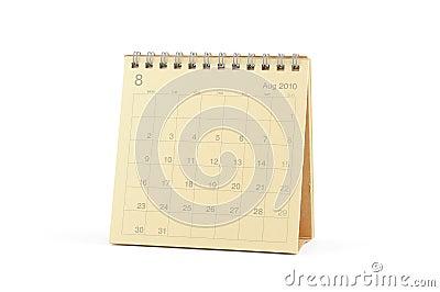 Calendar - August 2010