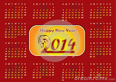2014 Calendar - Chinese New Year of the Horse