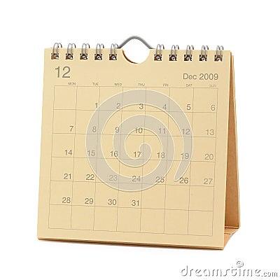 Calendar - December 2009