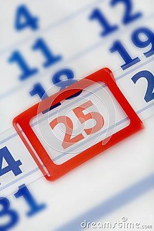 Free Calendar December 25th Royalty Free Stock Photos - 5039088