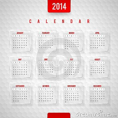 Calendar of 2014