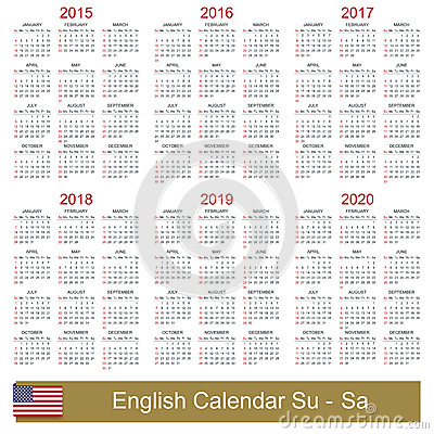 Printable 5 Year Calendar 2014 2019 | Calendar Template 2016