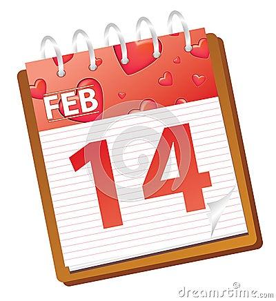 Calendar february red