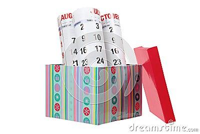 Calendar and Gift Box