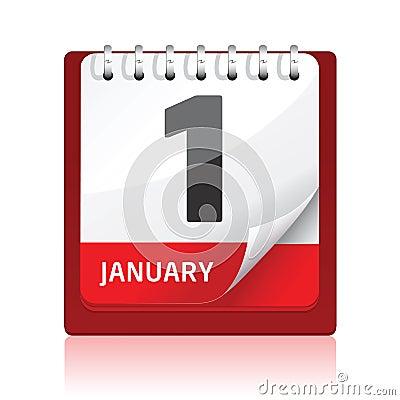 Calendar icon   Red
