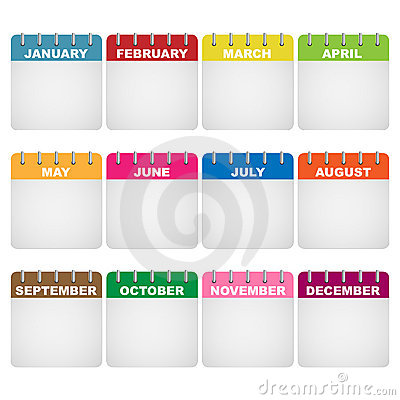 Free Calendar Icons Royalty Free Stock Images - 18299319