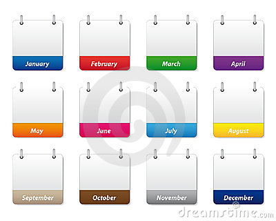 Calendar icons set Vector Illustration