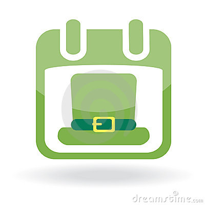 Calendar with irish hat