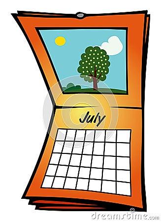 Calendar July Stock Images - Image: 14553604
